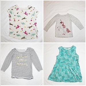 Lot of Four 2T Girls' Tops - Great for Playtime!